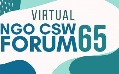 Foro Virtual de ONG CSW65. La Congregación de Nuestra Señora de la Caridad del Buen Pastor participará en el foro…